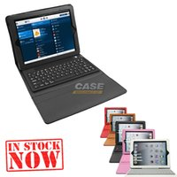 Cheap Bluetooth Wireless Keyboard Leather Case For Ipad 2 3 4 Air Mini 2 Retina Tablet PC Stand 6 Colors
