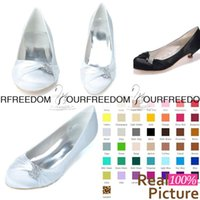 Wholesale Sparkly Red Wedding Shoes - 9001-03 Simple White Flats Weding Shoes Sparkly crystal Custom Made Bridesmaid Shoes Women Shoes Evening Prom Party Shoes High Quality