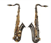 Wholesale FAST Shipping High Quality Hand Carved Flower Saxphone Professional Black Nickel B Flat Tenor Saxphone