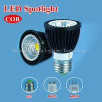 5w e27 led - 30pcs COB Led Spotlight W W W E27 GU10 MR16 dimmable spot lights LED Bulbs cold Warm White AC100 V AC DC V Black Aluminum