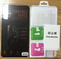Wholesale Premium Tempered Glass Film Screen Protector With Package For iphone Plus S S Samsung S5 S4 S6 Note LG G3 HTC M8