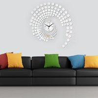 Wholesale Simple Fashion DIY Wall Clock Peacock Dot Well Sticker Decor Set Mirror Effect Decal for Home Decoration