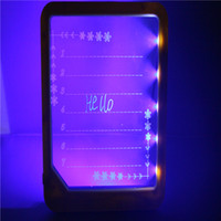 Wholesale New DIY Message Board LED Painting Writing Panel Tablet with Fluorescent Marker Pen