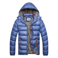 Wholesale British Stylehot SALE brand new Winter Mens Boys Hooded Coat Zip Cotton Warm Jacket Outwear SIZEM XL