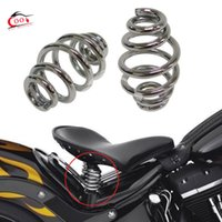 Wholesale One Pair Chrome quot Barrel Coiled Solo Seat Springs Cushion Springs Motorcycle Accessories for Harley Chopper Bobber Softail