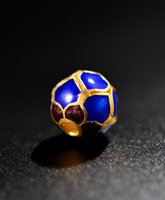 Wholesale Cloisonne accessories diy hand string silver gold plated blue mm bead jewelry accessories Fashion Jewelry Accessories For Bracelets