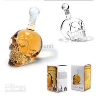 glass decanter - Cool Crystal Head Vodka Skull Face Bone Glass Bottle Decanter Empty Bar Line For ml