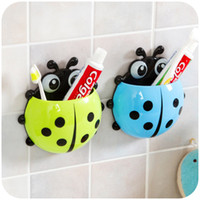 Wholesale Ladybird Cartoon combination set suction cup storage multicolour Coccinella septempunctata toothbrush Toothpaste holder