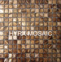 Wholesale New style mother of pearl shell mosaic tiles Dye Browns color Decorative shell mosaic tiles kitchen tiles bathroom mosaic tile