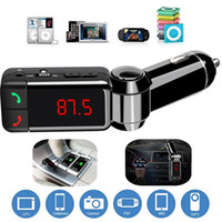 car radio with mp3 player - Car MP3 Audio Player Bluetooth FM Transmitter Wireless FM Modulator Car Kit HandsFree USB Charger for iPhone with Retail Box