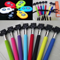 Wholesale Free DHL Extendable Handheld Self Timer portrait Monopod selfie stick Photo Bluetooth Shutter Camera Remote Control monpod shutter clip