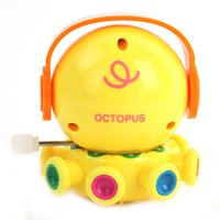 Wholesale Fun Plastic Wind Up Toys Clockwork Movement Octopus With Earphone For Kids