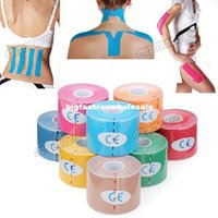 kinesio tape - 5roll cmx5m Kinesio Tape Pure Elastic Cotton Waterproof Safety Sport Care Tape Knesiology Therapy Muscle Bandage