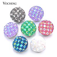 bags platinum plated - VOCHENG NOOSA Interchangeable Imitation Platinum Plated Custom Snap Button Jewelry MIX bag Trend Jewelry Vn