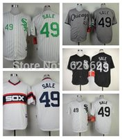 Wholesale 2015 New Cheap Men s Chris Sale Jerseys Chicago White Sox Baseball Jerseys Black Gray White Chris Sale Cool Base Stitched Jersey
