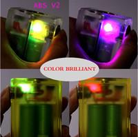 2015 Excelente Qualidade ABS V2 Mod Box Limpar cor E Caixa Cigarro com caixa de luz colorida Vapor Acrílico ABS V2 Box Top VS Dimitri Box Clouper Mod