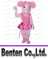 angelina ballerina - Angelina Ballerina Pig mascot costumes adult character fancy dress costumes corporate school team mascots free shippig LLFA4930F