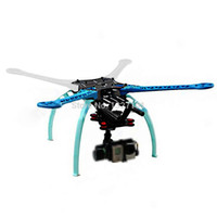 Wholesale Spare Parts FPV Glass Fiber Four Axis Quadcopter Frame Kit With Circuit Board for Gopro Hero Hero S500 PCB PTCT