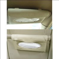 Wholesale Automotive Sunvisors Tissue Box Holder PU Paper Napkin Clip Storage box Car Accessories