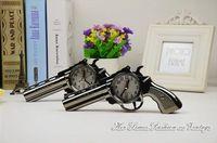 antique black bedroom furniture - Black Gun Creative Alarm Clock Plastic Pistol Students Creative Gift Craft Clock Birthday Bedroom Furniture Home Furnishings
