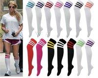 ladies knee socks - 6pairs Ladies Womens Stripe Over Knee High Socks Sport Referee Fancy Cotton Dress Colors