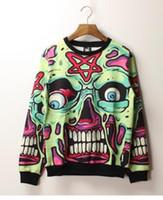 alien skulls - Alisister autumn Harajuku sweatshirt men D print kill star skull Alien religion pullover hoodie hip hop women hoody XXL