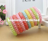 Wholesale Printing bracelet Hair bands Hair band elastic elastic hair headwear Polka dot printed bracelet Free DHL