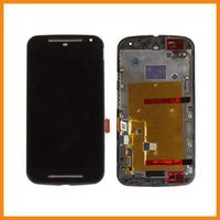Wholesale Replacement For Motorola Moto G2 G XT1063 XT1064 XT1068 LCD Screen Display Digitizer Touch assembly Frame free DHL shipping