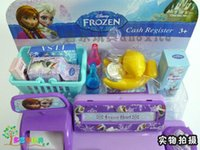 Wholesale House kids New hot baby boys girls Frozen Cash Register kids Elsa Anna Pretend Play Furniture Toys children Educational Interactive toys