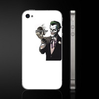apple backside - Skin for Apple for iPhone Backside Decals Joker Vinyl Decal