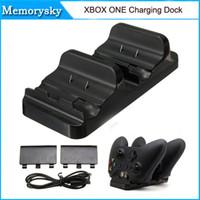 Xbox dual Baratos-Base de carga dual Para Mando inalámbrico Xbox Uno con el cable USB Batería en la acción 010208