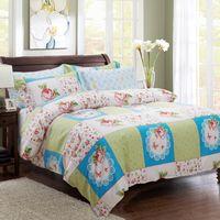 aqua color bedding - Fiber Bedding Sets soft and comfortable anti static and pilling aqua Quilt cover Pillow Case Sheet bedding set King Size Queen Size