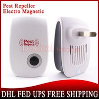 Wholesale 500 Pieces Electronic Ultrasonic Pest Mouse Repeller Elector Magnetic White Free DHL EMS