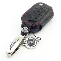 Wholesale Genuine Leather Car Key case for Volkswagen LAMANDO Skoda Octavia2015 Golf Sportsvan key cover car accessories ADDAN