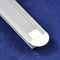 aluminum glass channel - DHL EMS Shipping meter pc U Channel Aluminum Slot With Waterproof Cover for Soft LED Strip Light SMD3528 SMD5050