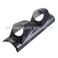 Wholesale 2 dual Hole High Quality Universal Carbon Fiber Pillar Gauge Meter Mount Holder Pod mm order lt no track