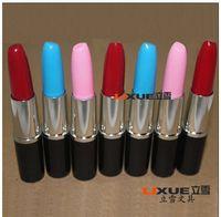 advertising mix - Korea Creative Stationery Cute Office School Supplies Super Vivid Lipstick Ballpoint Pen Mix Colors Advertising Pen For Kid Gift