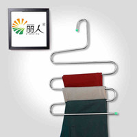 folding clothes rack - Hotselling layer Full stainless steel scarf towel trousers rack pants hanging rack