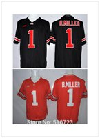 bc red - Factory Outlet NCAA Ohio State Buckeyes Braxton Miller Blackout College Football Jerseys Size Embroidery Logo bc
