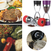 Wholesale Double Sided One Handed Dual Action Salt Pepper Mill Salt Grinder Acrylic Kitchen Gadgets LIF_524