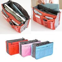 Wholesale DHL Ladies Bag in Bag Handbag travel storage bags Cosmetic Bags Cases Pouch Organiser Insert Organizer Tidy Travel Cosmetic Pocket Purse