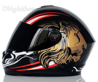abs carbon fiber - 2015 NEW High Quality YOHE Lion pattern full face helmets winter motorcycle helmet Moto Casco Capacete YH966