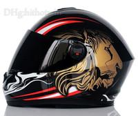 al por mayor yohe moto casco-2015 NUEVO casco de la motocicleta del invierno de los cascos de la cara llena del patrón del león de la alta calidad YOHE Moto Casco Capacete YH966