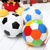 Wholesale 2015 New cm Indoor Stretch Small Sponge Football Soccer Play Ball Soft Toy Ball Blue Black Multi colors