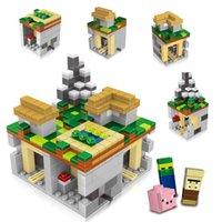 Wholesale Minecraft JJ styles Building Blocks New Minecraft village DIY Bricks baby Toys B001