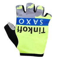 banking equipment - 2015 Tinkoff saxo bank New Cycling Gloves Cycling Gloves Half finger Gloves Bicicletas Mountain Bike Accessories Ropa Ciclismo Equipment