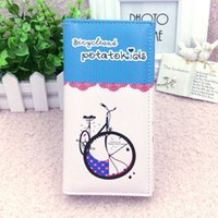 ban han - The new Miss Han Ban purse simple postcard printing retro bicycle women purse Clutch