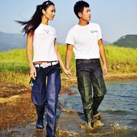 Wholesale Fishing trousers portable water pants Rice paddies pants LAN network bust waders