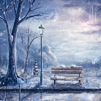 Wholesale Photography Backdrops cm cm Christmas Background Wood Chair Winter Snow Photos Backdrops Background Cloth ST