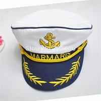 admiral blue - Greece Letter Navy Hat Embroidery TURKIYE MARMARIS Blue White Military Hat Yacht Boat Ship Captain Costume Marine Admiral Cap